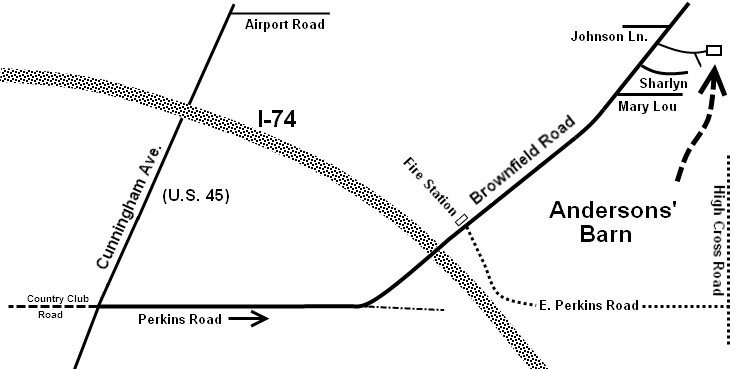 map to Anderson's Barn